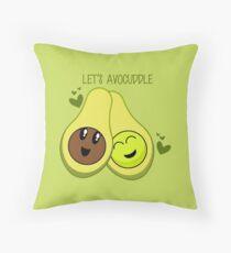 Let's Avocuddle Throw Pillow