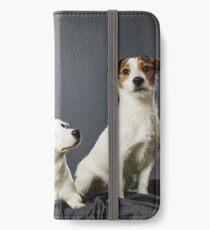 Jack Russell terrier family portrait iPhone Wallet/Case/Skin