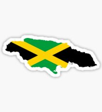 Jamaica Flag Map Sticker
