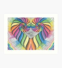 Love Heart spiral Art Print