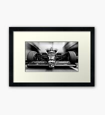 Ayrton Senna (Black & White) Framed Print