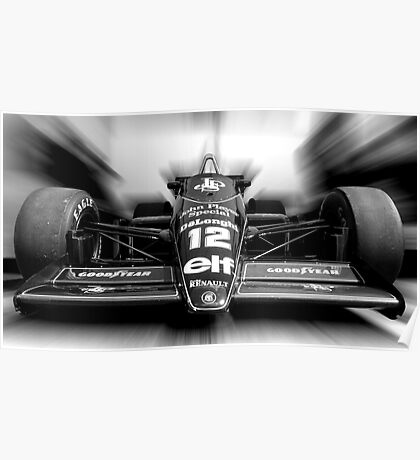 Ayrton Senna (Black & White) Poster