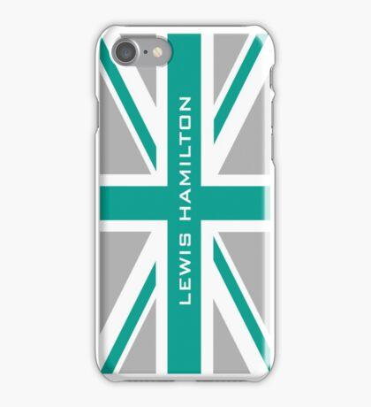 Lewis Hamilton (Team colours) iPhone Case/Skin
