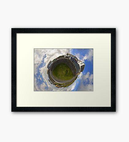Tigh Ruairi - Inisheer Village (Sky out)  Framed Print
