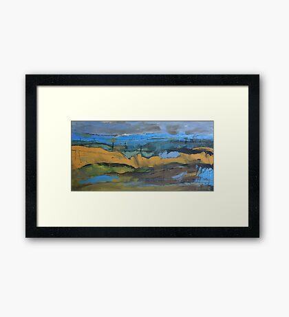 landscape blue Framed Print