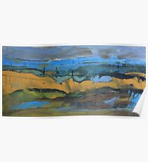 landscape blue Poster