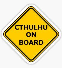 Cthulhu on Board Sticker