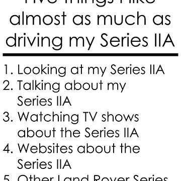 5 Things I Like - Series 2A by 4x4Life