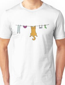 Wet Washing Cat Unisex T-Shirt