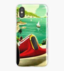 """MONACO GRAND PRIX"" Auto Racing Print iPhone Case/Skin"
