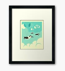FLOCK OF PENGUINS Framed Print