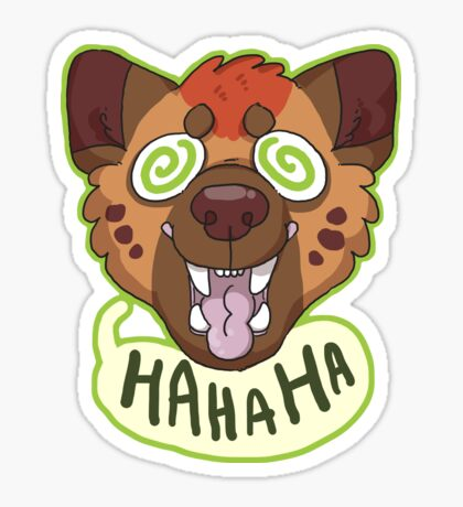 Ha Hyena Sticker