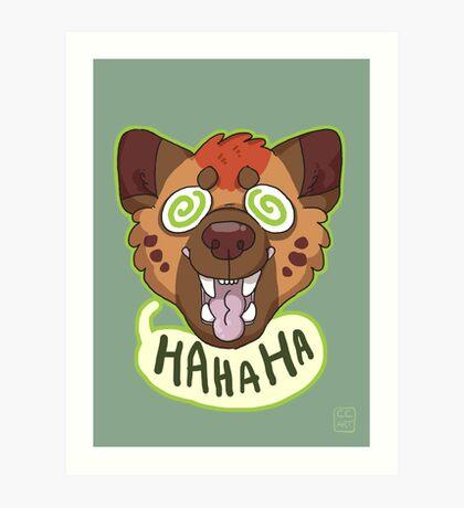 Ha Hyena Art Print