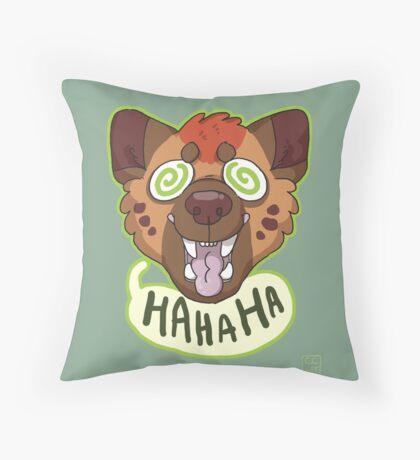 Ha Hyena Throw Pillow