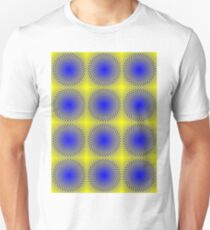 """""""WHIMSICAL 3D ABSTRACT"""" Fun Psychedelic Print T-Shirt"""