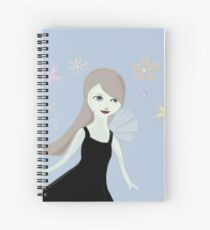 Fancy dreams and flowers Spiral Notebook