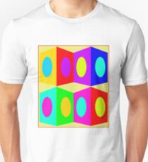 """PSYCHEDELIC BLOCKS"" 3D Whimsical Print T-Shirt"