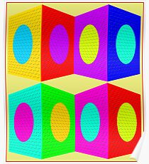 """PSYCHEDELIC BLOCKS"" 3D Whimsical Print Poster"