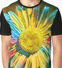 Rainbow Daisy Flower Graphic T-Shirt
