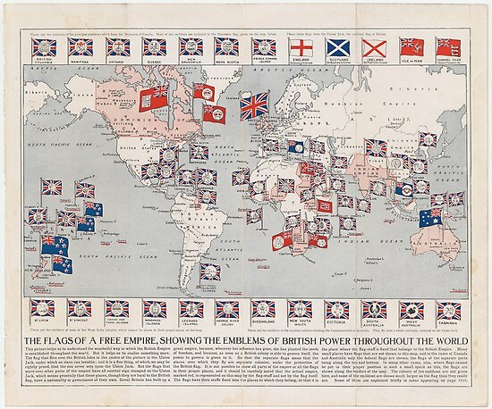 Vintage british empire world map 1910 posters by bravuramedia vintage british empire world map 1910 by bravuramedia gumiabroncs Choice Image