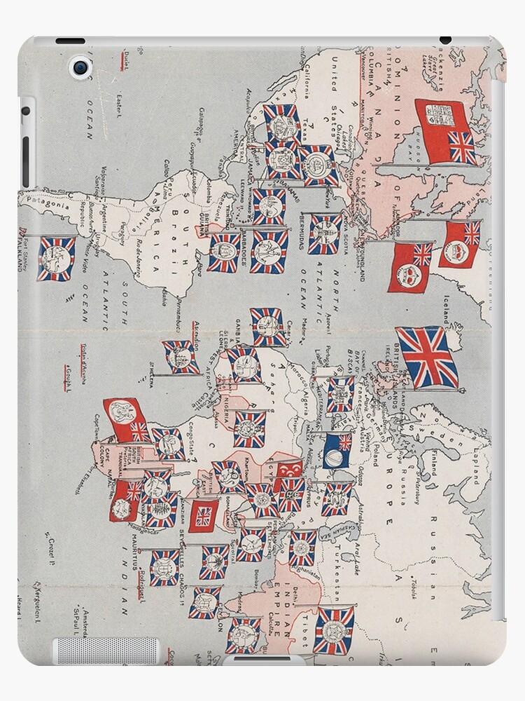 Vintage British Empire World Map (1910) by BravuraMedia