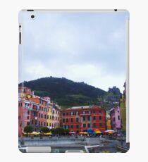 Colorful harbor of Vernazza iPad Case/Skin