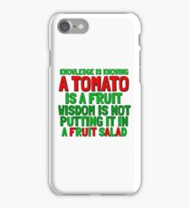 Food Humor Funny Tomato Cute Random Quote iPhone Case/Skin