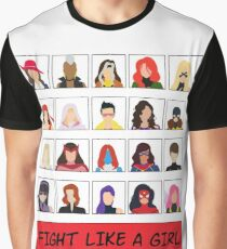 Fight Like A (Marvel) Girl. Graphic T-Shirt