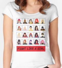Fight Like A (Marvel) Girl. Women's Fitted Scoop T-Shirt