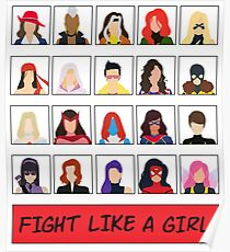 Fight Like A (Marvel) Girl. Poster