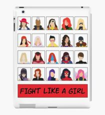 Fight Like A (Marvel) Girl. iPad Case/Skin