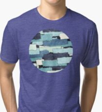 Layers of Colors Pattern Tri-blend T-Shirt