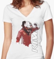 Kimi Raikkonen (WDC 2007) Women's Fitted V-Neck T-Shirt