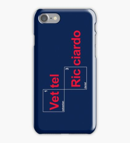 Team Vettel Ricciardo iPhone Case/Skin