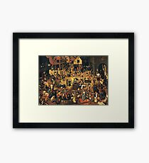 The Fight by Hieronymus Bosch Framed Print