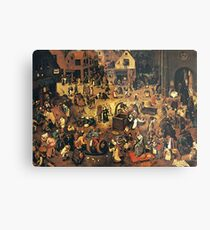 The Fight by Hieronymus Bosch Metal Print