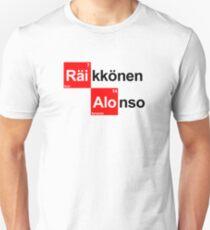 Team Raikkonen Alonso (white T's) Unisex T-Shirt