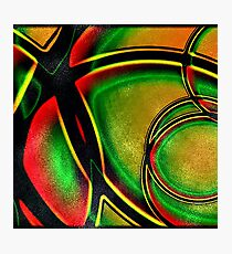 Multicolored Modern Abstract Design Photographic Print