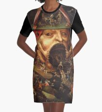 Insight into Hell 3 by Hieronymus Bosch Graphic T-Shirt Dress