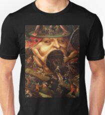 Camiseta unisex Percepción del Infierno 3 por Hieronymus Bosch
