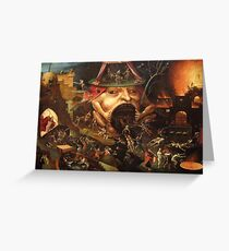 Insight into Hell 3 by Hieronymus Bosch Greeting Card