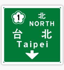 Taipei, Road Sign, Taiwan Sticker