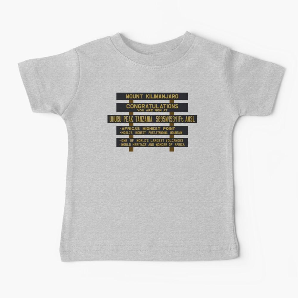 Mount Kilimanjaro, Uhuru Peak Sign, Tanzania Baby T-Shirt