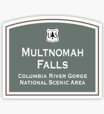 Multnomah Falls Sign, Columbia River Gorge, Oregon Sticker
