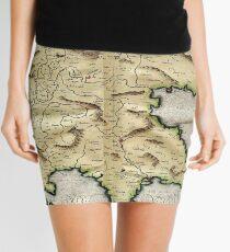 Minifalda Mapa vintage de Grecia (1596)