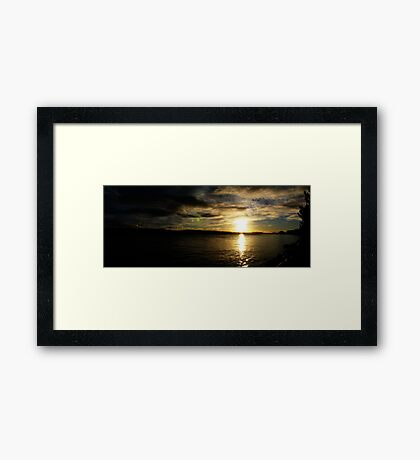 August Sunset - Tamar River, Tasmania Framed Print