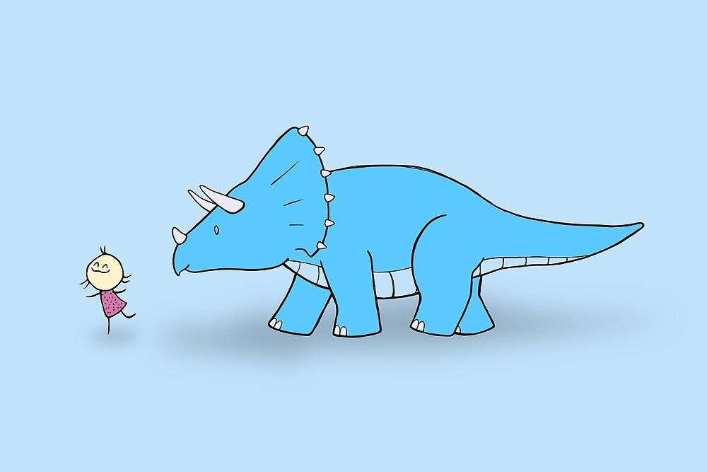 Hello Triceratops by Josh Bush
