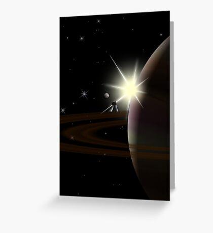 Planetary Lof - two lof bees Greeting Card