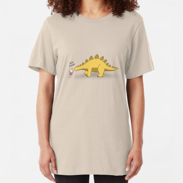 Hello Friend (Dinosaur) - two lof bees Slim Fit T-Shirt