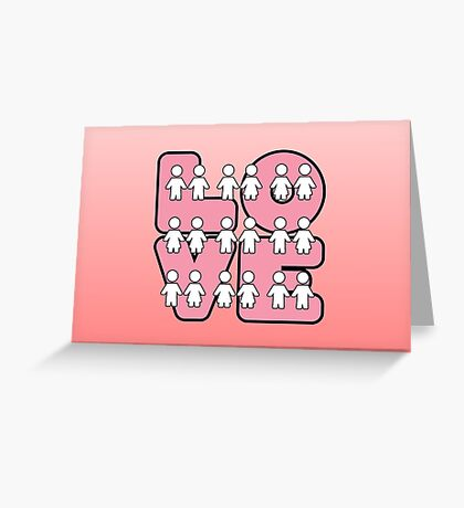 Four Letters (alternate design) - two lof bees Greeting Card